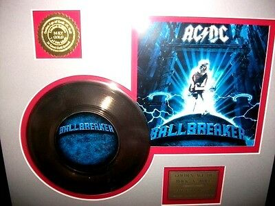 Ac/dc'ballbreaker''gold 45 Record Display # 43 Of 500 Limited Edition