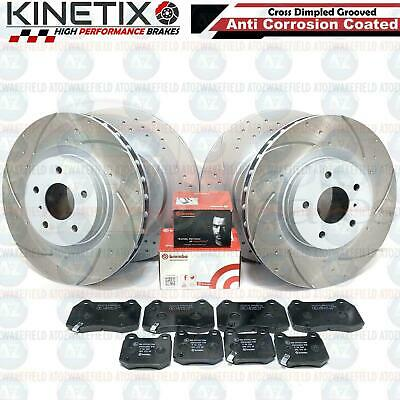 For Nissan 350z 350 z roadster G35 front rear grooved brake discs brembo pads