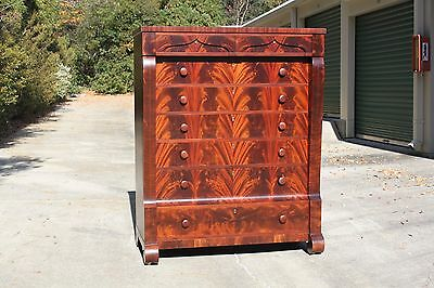 Outstanding Massive Signed Empire Solid Mahogany 8 Drawer Tall Chest Dresser