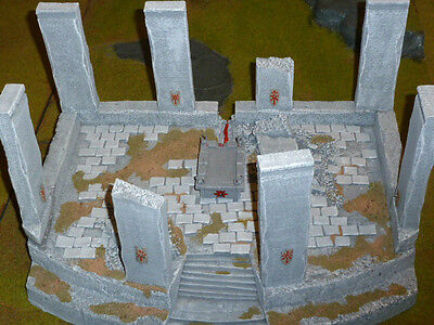 Warhammer Fantasy/LOTR painted terrain lot - Altar of Chaos / evil Lotr armies
