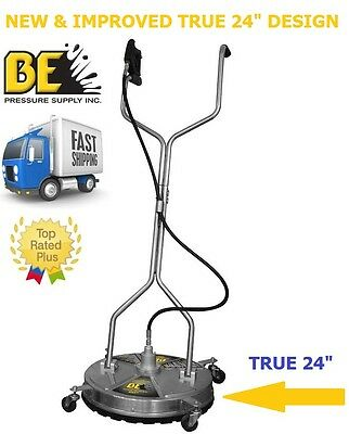 "BE Pressure 24"" in Whirl-a-Way Stainless Steel Pressure Washer Surface Cleaner"