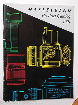 Hasselblad Product Catalog 1991 Sales Brochure Book - English - USED