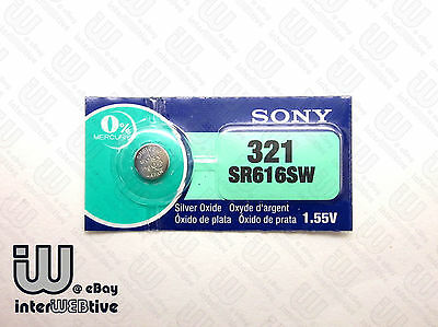 1 X New in Packing Made in Japan SONY 321 SR616SW Coin Cell Watch Battery 1.55V