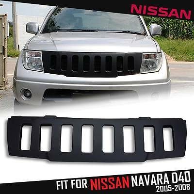 Front Head Black Abs Grid Grill Grille Nissan Frontier Navara D40 05 06 07 08 09