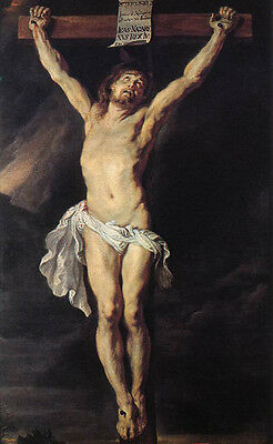 Dream-art Oil painting Peter Paul Rubens - The Crucified Christ Jesus hand paint