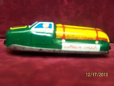 Vintage 1950s Friction Tin Toy Litho Lumber Truck TN Made in Japan
