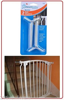❤ DreamBaby Gate Extension Banister Pressure Spindle Gate Adaptors Dream Baby ❤