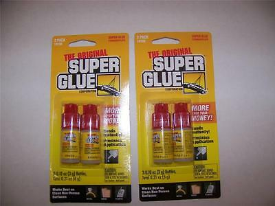 Original Super Glue 4 Bottles. Each 0.10 Oz. (3 Grams)