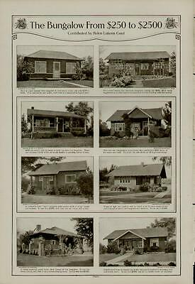 1910's THE BUNGALOW FROM $200 TO $2500 2 PAGES AD / BY: HELEN GAUT