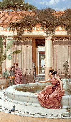 Art Oil painting John William Godward - Innocent Amusements young girls in view