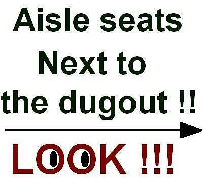 4 Seattle Mariners Tampa Bay Rays tickets Safeco Field  6/2  2017 DUGOUT