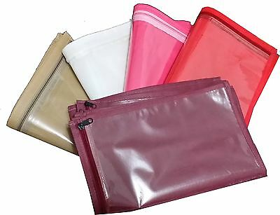 25 Pack Sari Saree Cover Bags Packaging Storage One Side Cloth Clear Plastic Zip
