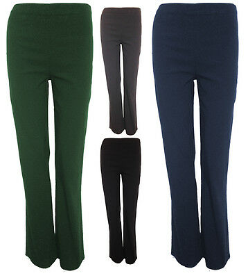 Girls Plain School Trousers * Stretch Bengaline * No Zip No Pockets * 4 Colours