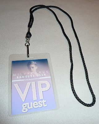 Miley Cyrus Bangerz World Tour Vip All Access Backstage Pass! Bangers! Adore You