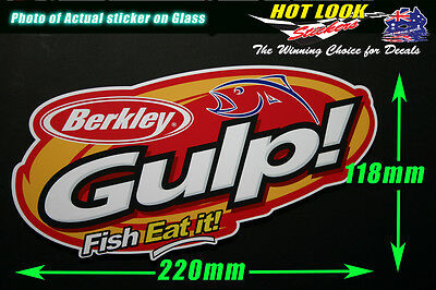 Berkley Fishing Gulp Sticker Decal 220mm wide for boat dinghy tackle Box