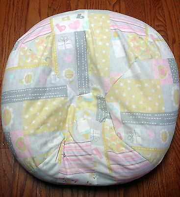 Handmade Baby Art Patches Slipcover/Cover Fits Boppy Newborn Lounger