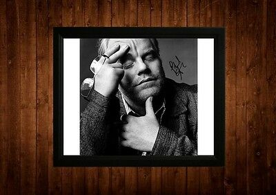 Philip Seymour Hoffman Signed Framed Pp A4 Print Gift Ideas Capote Hunger Games