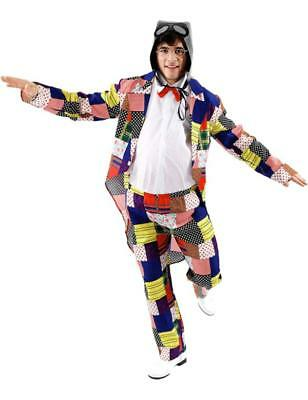 Adult Mens 80s 90s Comedian Chubby Brown Suit Fancy Dress Costume