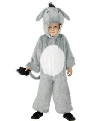 Kids Donkey Fancy Dress Costume Animal Outfit Body Suit Girls Boys With Hood