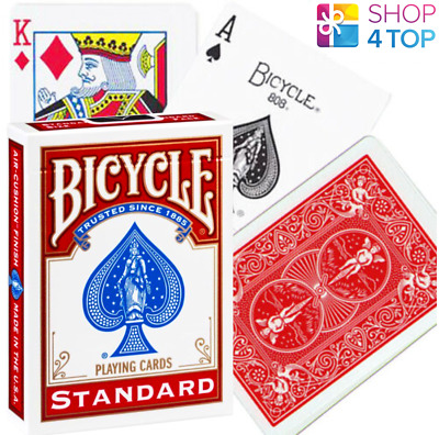 Bicycle Rider Back Standard Index Playing Poker Magic Tricks Cards Red Usa New