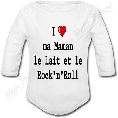 Body Bébé Love ma Maman, le lait et le Rock'n'Roll