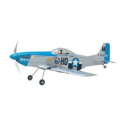 THE WORLD MODELS P-51 MUSTANG EP (SILVER COLOR) Radio Control Airplane 3-cell