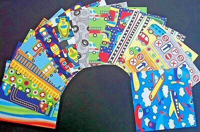 """Colourful *GOING PLACES* Scrapbooking/Cardmaking Papers - 15cm X 15cm (6"""" x 6"""")"""