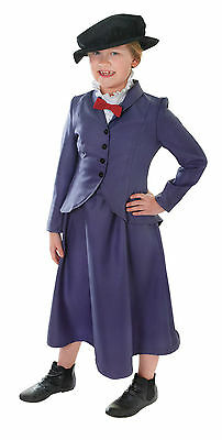 Nanny #Mary Poppins Complete Outfit Child Disney Fancy Dress Book Week Girls