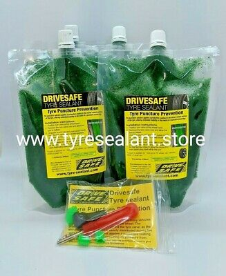 CAR TYRE SEALANT ,TYRE PUNCTURE PREVENTION FOR CARS 1x CAR PACK