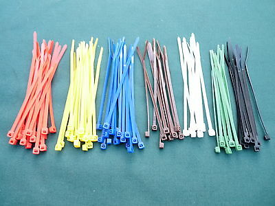 Cable Ties - 2.5mm x 100mm Multi Pack - 7 colours to choose from - Pack of 100