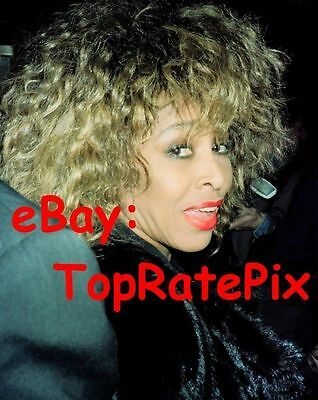 TINA TURNER - What's Love Got To Do With It Singer (Fur Clad) 8x10 Candid Photo