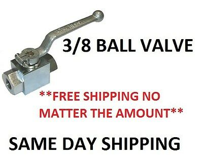 "AR 3/8"" Chrome Plated BALL VALVE 7250 PSI - INDUSTRIAL VALVE - UNBEATABLE PRICE"