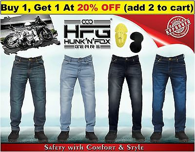 Motorbike Regular Jeans with Protective Lining. Hunk'n'Fox Gears.