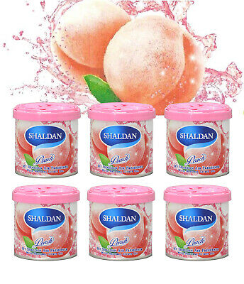 6 CAN JAPAN JDM MY SHALDAN PEACH SCENT AIR FRESHENER  (D41PE) 80gr/2.82oz/can