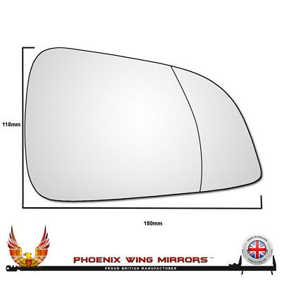 Right Drivers Side Vauxhall Astra H 2009-2011 Wide Angle Wing Mirror Glass (FSP)