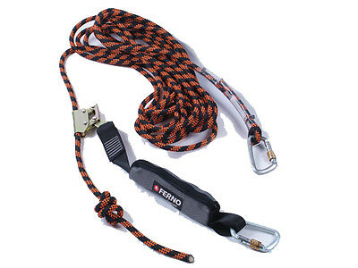 Ferno Adjustable Height Safety Rope Line w/ Rope Grab & Shock Ab |AUTH. DEALER