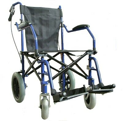 Lightweight heavy duty folding travel Wheelchair in a bag with brakes ECTR04HD