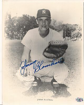 Johnny Blanchard New York Yankees vintage signed autographed 8x10