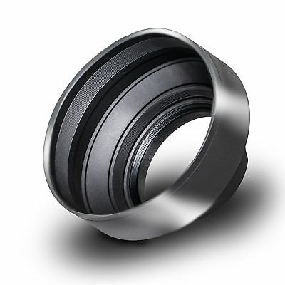 Phot-R 52mm Universal Collapsible Rubber Multi-Lens Hood for Wide Angle Lenses