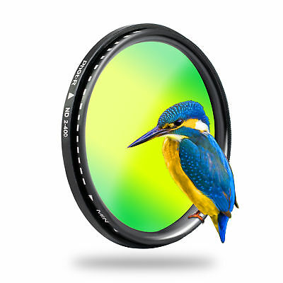 Phot-R 77mm PRO-D Slim Variable Adjustable Neutral Density ND2-ND400 Lens Filter