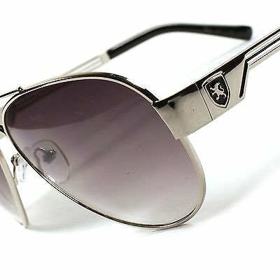 Air Force Style Sporty Casual Trendy Gradient Lens Mens Womens Silver Sunglasses