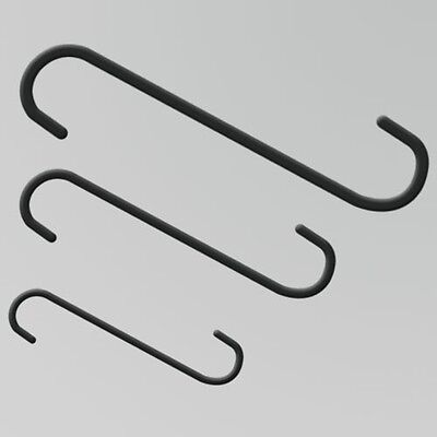 """Powder Coating Hanging S-Hook .180"""" X 12"""" Long (50 Count Pack)"""
