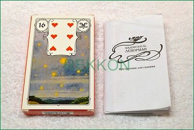 Red Russian Madame Lenormand 36 Fortune Telling Tarot Cards Карты ТАРО Ленорман