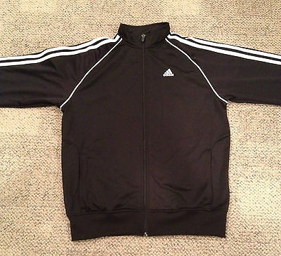 ADIDAS- Black Basketball/Athletic/Track Jacket New with Tags- Size  Youth XL