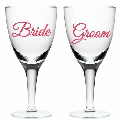 BRIDE And GROOM Wedding Glass Stickers Decals Only Personalised Bespoke | WW19
