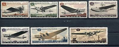 Russia Yr.1937,sc C69-75,mi 571-77,mlh,aviation Exhibition,moscow,white Paper