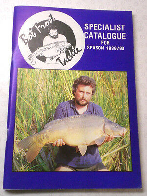 Bob Frost Specialist Advertising Fishing Catalogue For 1989/90