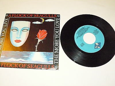 "A FLOCK OF SEAGULLS ""THE MORE YOU LIVE..."" disco 45 giri JIVE Italy 1984"