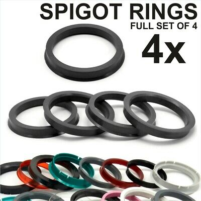 4x Spigot Rings Hub Centric Ring FULL SET OF 4 FOUR size to choose from 350+ mm