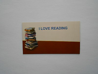 I Love Reading Fridge Magnet For Book Lovers Magnetic Backing